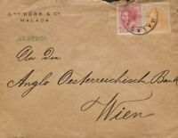 España. Andalucía. History Postal. over 210, 202. 1885. 15 Cts Orange and 10 C