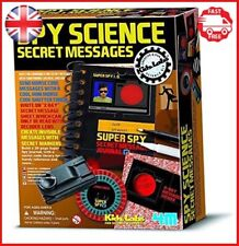Spy Science Secret Message Kit By 4M For Kids Gifts Boys Girls Toys Play Agent