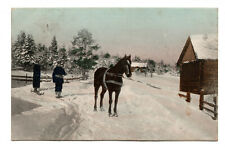 More details for horse pulling skiers - posted 1907 to miss lilian roger, 3 blantyre terrace