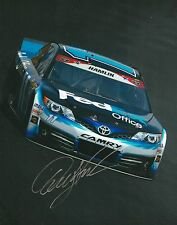 DENNY HAMLIN signed NASCAR 8X10 photo with COA