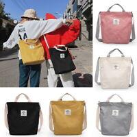 Korean Version of The Versatile Canvas Shoulder Bag Simple Art Slanting Handbags