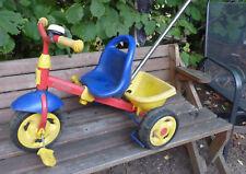 Kettler Puky Dreirad mit Schiebestange, Kipper und Klingel rot blau gelb