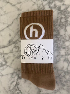 Hidden NY (New York) Comfy Socks Tan *Brand New* MADE IN USA