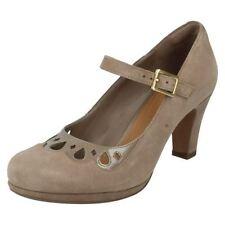 Clarks Suede Mary Janes Slim Heels for Women