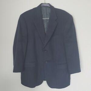 Mens J. Ashford 42 SH Navy Blue 100% Cashmere Sport Jacket Coat Blazer