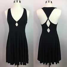 NEW Silence + Noise Black Cutout Fit Flare Dress Size Medium Urban Outfitters