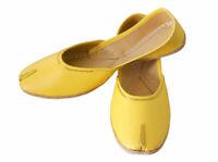 Women Shoes Indian Handmade Jutti Traditional Yellow Loafers Mojari UK 3.5 EU 36