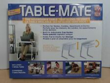 NEW Table-Mate Adjustable, Portable & Folding Table, White $90