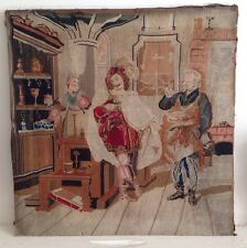 Antique Berlin woolwork broderie tapisserie broderie historique scène