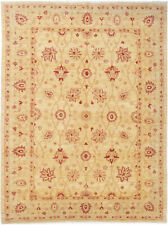 5X7 Hand-Knotted Farhan Carpet Traditional Beige Fine Wool Area Rug D32940