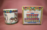 Vtg Applause 1987 Merry Carousel Collection Coffee Cup Reindeer w Original Box