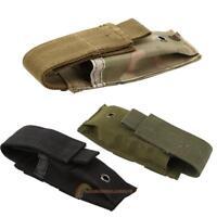 Military Tactical Single Pistol Magazine Pouch Knife Flashlight Sheath R1BO