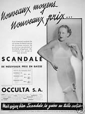PUBLICITÉ 1935 SCANDALE EN TULLE DOGNIN TISSÉ LATEX NOUVEAU MOYEN - OCCULTA