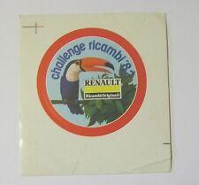 VECCHIO ADESIVO AUTO anni '80 / Old Sticker RENAULT 1982 tucano (cm 11 x 12)