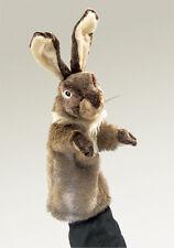 *NEW* PLUSH SOFT TOY Folkmanis 2800 Rabbit Stage Hand Puppet 35cm