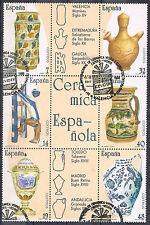 ESPAÑA Nº 2891/96 (o) BLOQUE  ARTESANÍA ESPAÑOLA. CERÁMICA