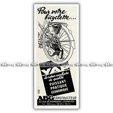 PUB VAP-ABG 'Pour votre bicyclette' - Ad / Publicité Moteur auxiliaire de 1951