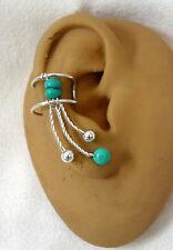 Right  SingleTurquoise earcuff/ ear clip  #77TQ