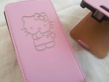 Samsung Galaxy S2 i9100 HELLO KITTY LEATHER pink flip phone case cover skin cute