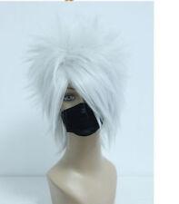 Short NARUTO-Hatake Kakashi Silvery Gray Anime Cosplay Costume Wig Z86