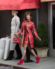 "Tonner Sydney ""Mosaic Modern"" brown hair eyes silk dress coat red boots NRFB NEW"