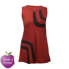 Robe 2 couleurs rouge brique & noire style années 60 taille unique
