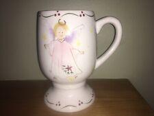Cosmos Gifts Corp Angel Mug Tall W/Pedestal Base Holly Berry Trim Ceramic Xmas