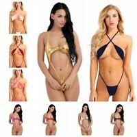 Sexy Women's Bra G-string Thong Set Swimwear Bathing Swim Suit Mini Micro Bikini