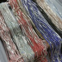 100cm Crystal Rhinestone Chain DIY Handcraft Rope Necklace Jewelry Cloth Decor