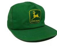 Vintage K-Products JOHN DEERE Green Mesh Trucker Hat patch  Snapback USA made