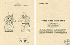 SHAWNEE MUGGSY Cookie Jar US Patent Art Print READY TO FRAME!! 1944 Ganz Mugsy