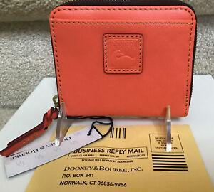 Dooney & Bourke Florentine Small Zip Around Wallet in SALMON