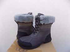 UGG BUTTE METAL GREY WATER-PROOF LEATHER WINTER SNOW BOOTS, US 10.5/ EUR 44 ~NEW