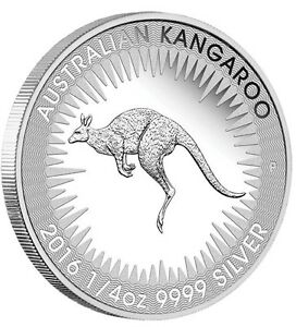 2016 Australian FIRST Kangaroo PROOF .9999 Silver 1/4 oz Coin Australia