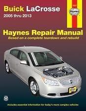 2013 buick lacrosse owners manual ebay rh ebay ca 2005 Buick Lacrosse CXL Problems 2005 Buick Lacrosse CXL Problems