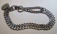 Collier étrangleur double en métal pour chien