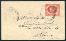 1892 San Marino 20 cent. rosso isolato su lettera per Milano