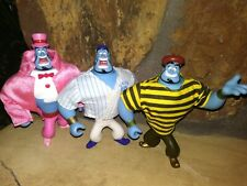 Genie Aladdin Mattel Action Figures: Tophat, Frenchman, Baseball Player,New,Mint