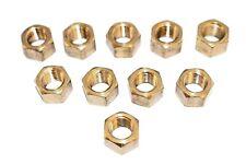 Brass Manifold Nuts Qty 10 M10 x 1.25mm Inlet Car Van Exhaust Nut BN9