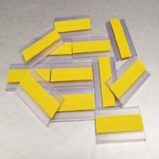 SALE: 100 x EPOS Self-Adhesive Ticket Holders, Data Strip 30mm H x 50mm L