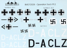 Opération torch partie 2 1/72nd scale decals