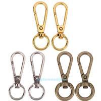 4pcs Vintage Metal Dog Buckle Snap Hook Bag Clasp Clip DIY Keychain Key Ring