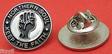 Northern Soul Keep the Faith Lapel Hat Tie Pin Badge NS KTF Brooch Gift