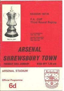 1968 Arsenal v Shrewsbury Town [FAC]