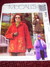 McCALL'S #P471-LADIES ( 3 STYLE-GREAT FOR FLEECE ) WINTER JACKET PATTERN 16-22FF