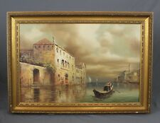 Large Venetian Oil Painting by I Costello