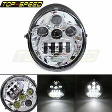 Chrome LED Front Headlight Lamp Projector For Harley Street Rod VROD VRSC New