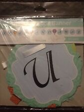 Up Up and Away Baby Shower Shaped Ribbon Banner Hot Air Balloons Party Supplies