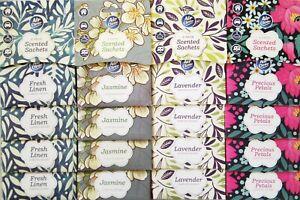 4 Pack Scented Wardrobe Sachet Freshener Fragrance Cupboard Freshner Drawer Home