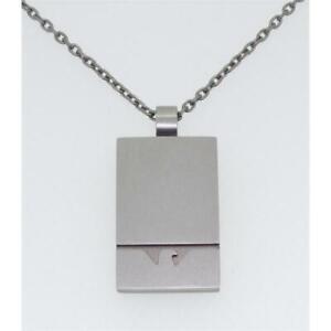 Emporio Armani Herren Halskette Anhänger Edelstahl silber 53cm EGS2302040